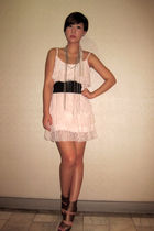 pink Glitterati dress - black Grommet by Glitterati belt - brown random on-line