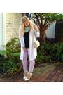 White-cotton-on-jacket-light-blue-cotton-on-scarf-beige-zara-bag