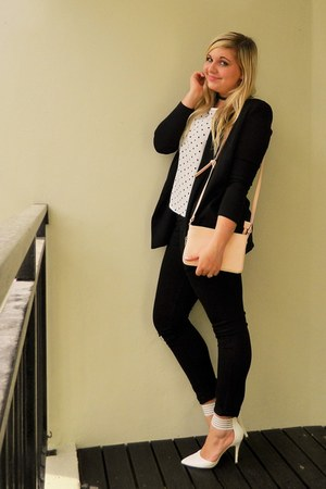 black Mr Price jeans - black Mr Price blazer - light pink colette hayman bag