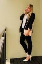 black Mr Price jeans - black Mr Price blazer - light pink colette hayman bag