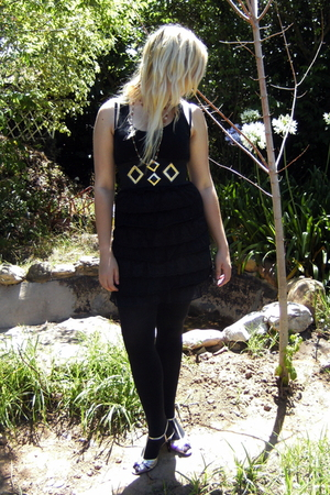 black Immortal dress - black falke tights - gold Project at RT belt - gold BM ac