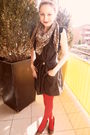 Blue-forever-21-dress-red-topshop-tights-brown-h-m-shoes-brown-h-m-accesso