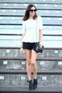 Black-shorts-zara-shorts-black-chain-bag-asos-bag