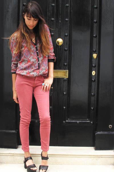 pink Zara pants