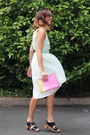 Lime-green-asos-dress-bubble-gum-asos-bag-black-funkis-clogs
