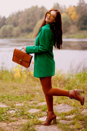 green 35 pounds asos coat - tawny 30 pounds River Island boots