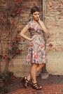 Thrifted-vintage-dress-target-wedges
