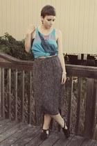 Goodwill skirt - thrifted sandals