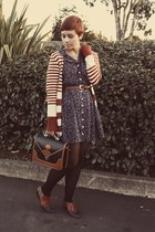Goodwill dress - vintage purse - Forever21 cardigan