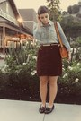 Flea-market-purse-thrifted-skirt-jcrew-top