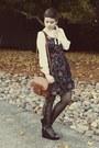 Forever-21-dress-vintage-purse-thrifted-wedges-vintage-blouse