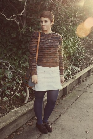 Forever 21 shoes - vintage sweater - leather Oasapcom purse - Goodwill jumper