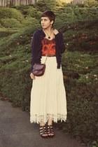vintage skirt - Zara top - Target wedges