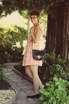 Dahlia dress - vintage purse - thrifted heels