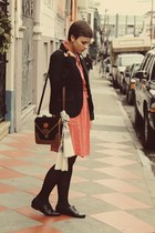 vintage dress - vintage shoes - Gap blazer - vintage purse