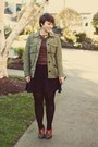 Thrifted-shoes-forever-21-dress-gap-jacket-vintage-sweater