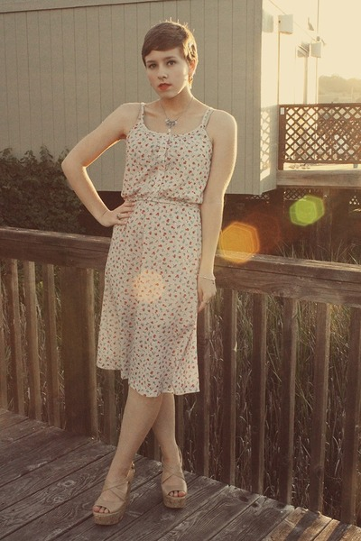 Goodwill dress - Forever 21 wedges