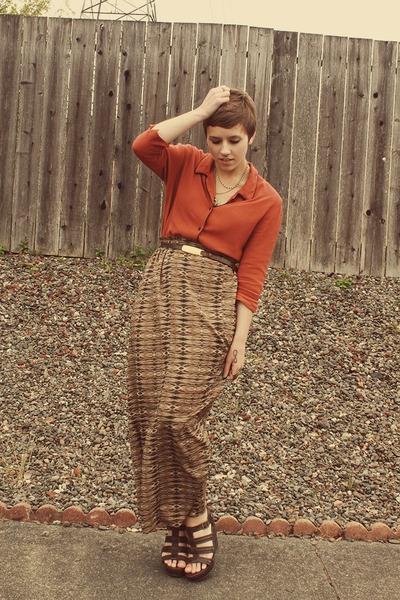 Forever 21 skirt - thrifted blouse