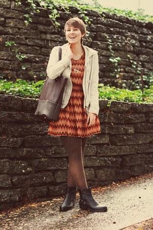 Ross boots - Marshalls dress - Marshalls bag