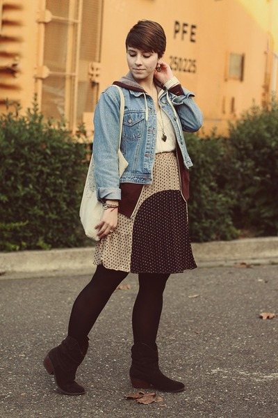 Sugarlips skirt - DSW boots - Gap jacket