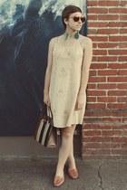 Goodwill sunglasses - thrifted dress - Goodwill purse
