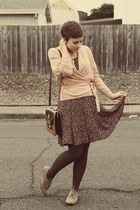 vintage purse - Forever 21 shoes - Goodwill dress - H&amp;M sweater