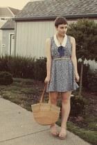 Forever 21 dress - vintage purse - Levity wedges