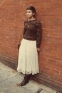 Goodwill-boots-vintage-sweater-vintage-skirt