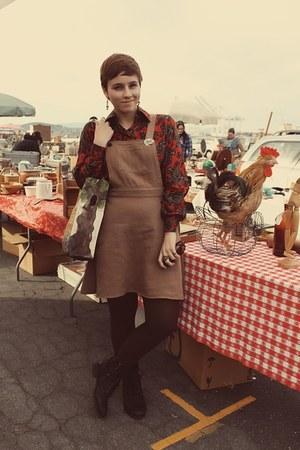modcloth dress - vintage blouse