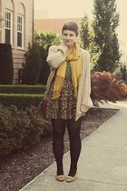 Goodwill cardigan - Target scarf - Goodwill heels - Urban Outfitters skirt
