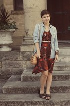 Urban Outfitters dress - J Crew shirt - Forever 21 purse
