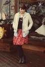 Marshalls-boots-thrifted-dress-gap-jacket-j-crew-shirt