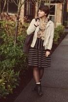 thrifted skirt - Ross boots - Gap jacket