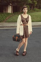 Goodwill dress - Dooney & Burke vintage purse - Goodwill cardigan - Goodwill wed