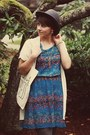 Thrifted-shoes-target-dress-vintage-hat-etsy-purse
