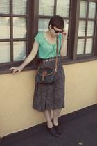 dooney & burke purse - Goodwill skirt - vintage loafers