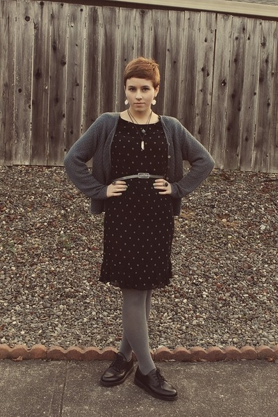 thrifted dress - Goodwill cardigan