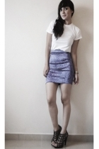 Guess skirt - t-shirt - shoes
