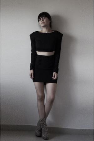 abra blouse - skirt - boots