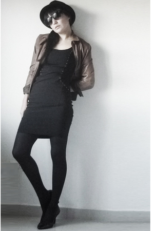 Zara dress - pull&bear jacket