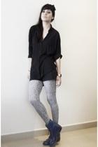 blouse - shorts - boots