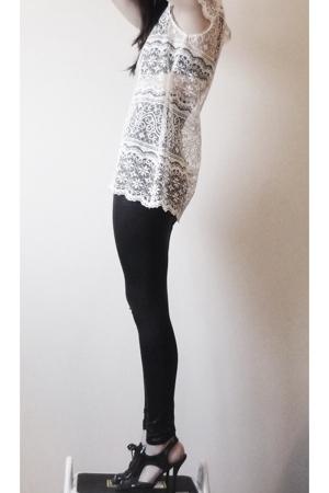fete des morts dress - American Apparel leggings