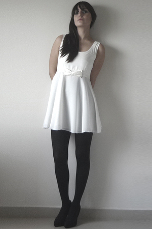 dress - tights - H&M shoes