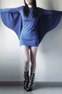 Blue-miss-mars-dress-black-boots