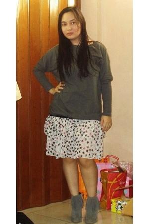 korea shirt - F&H skirt - korea boots