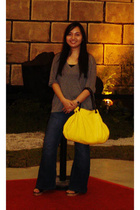 from Korea t-shirt - Bossini intimate - Dorothy Perkins jeans - purse - shoes