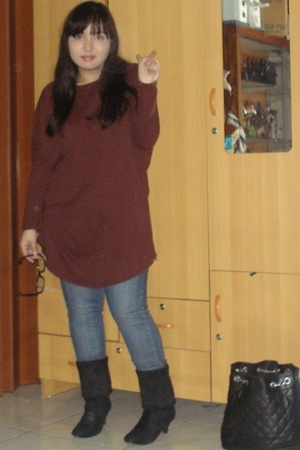 korea shirt - SJP jeans - seibufashion boots