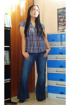 H&M blouse - Dorothy Perkins jeans - korea shoes - hongkong accessories