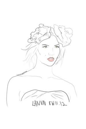 lanvin dress - lanvin hat