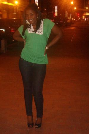 shoes - jeans - blouse